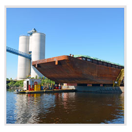 Dry Dock Vessel Repairs on Upper Mississippi by Brennan Marine