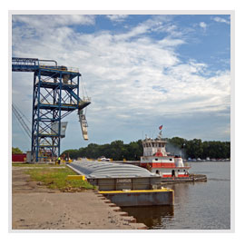 Inland Harbor Services, Barge Transportation, Fleeting and Switching, Barge Terminal Services, Grain Elevators, Mississippi River Barge