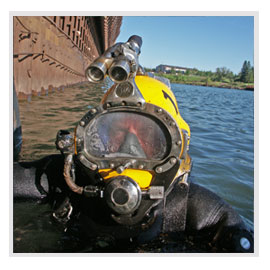 Diving, underwater construction, underwater inspection, marine construction