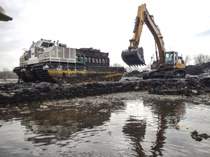 environmental dredging, wetland restoration, amphibious equipment
