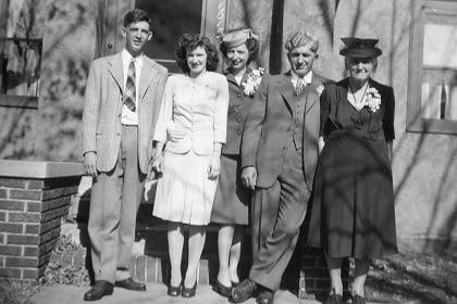 1945 Brennan Family (Left to Right, Ralph, Marie, Dorothy, Jim, Julia (Manning))