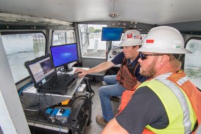 hydrographic survey, multibeam survey, dredging quality control