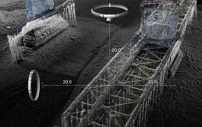 multibeam survey, scour protection, bridge pier repairs, underwater inspections