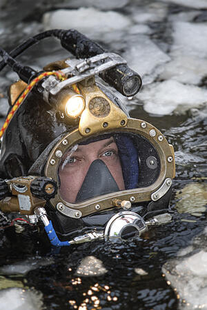 A Brennan diver's view from the ice
