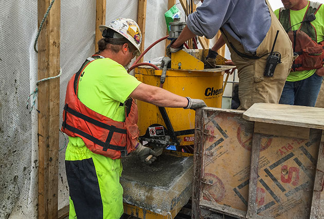 dam construction, concrete placement, grouting, concrete repairs, water cutoff grouting, chemical grouting, structural consolidation