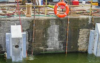dam construction, dam repairs, concrete repairs, precast components, hydroelectric dams, hydro dams, precast concrete placement, underwater construction