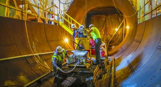 dam construction, dam repairs, concrete repairs, grouting, grouting programs, penstock repairs