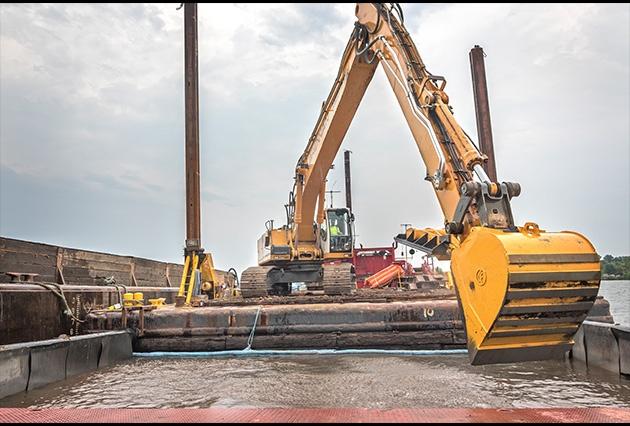 Mechanical dredging service