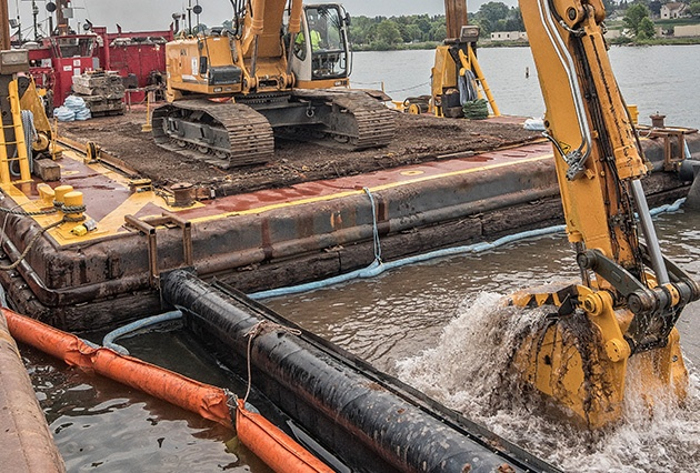 mechanical dredging, environmental dredging, remedial dredging, environmental remediation, brennan