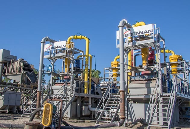 rapid dewatering, sediment separation, sand separation, dewatering, material segregation, mechanical dewatering