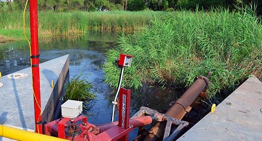 surgical hydraulic dredging, hydraulic dredging, hydraulic dredge, environmental dredging, portable hydraulic dredge, hydraulic transport, environmental remediation, environmental restoration, remedial dredging