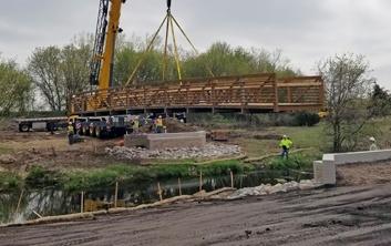 bridge construction, bridge replacement, bridge repairs, pedestrian bridge construction, pedestrian bridge replacement