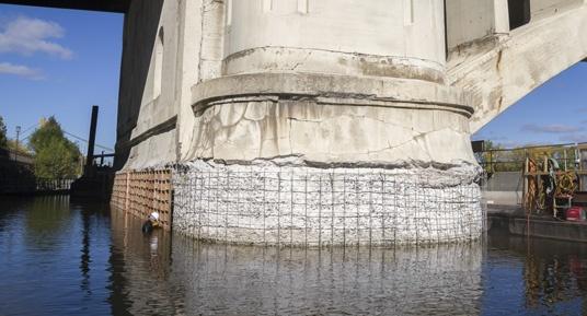 bridge repair, pier repair, bridge construction, underwater pier repairs