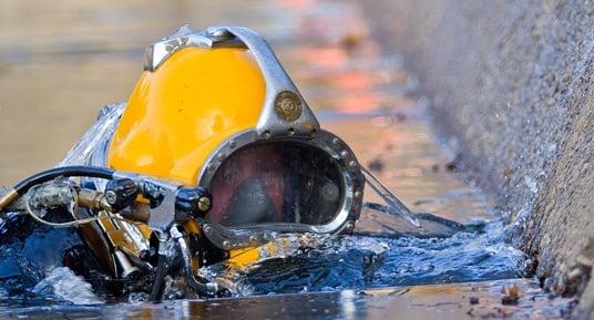 underwater inspections, commercial divers, dock inspections, underwater construction, marine construction, brown water diving, black water diving