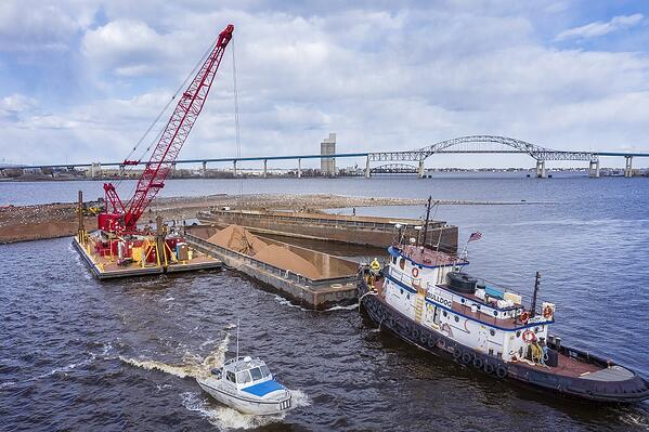 Moving sand in duluth interstate island