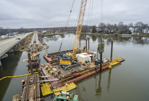 bridge replacement, bridge construction, railroad bridge construction, span replacement