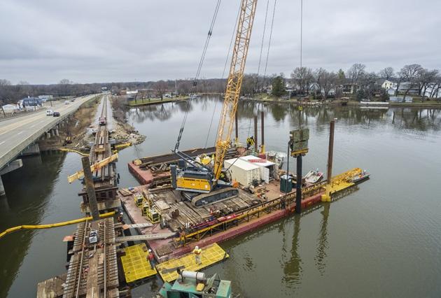bridge replacement, bridge construction, railroad bridge construction, span replacement