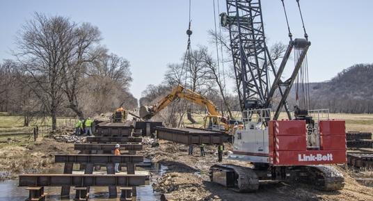 bridge construction, railroad bridge construction, railroad bridge replacement, bridge repairs, brennan, railroad contractors