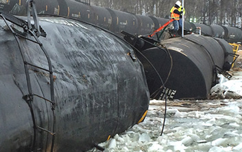 derailment, environmental response, train derailment, train derailment cleanup, environmental cleanup