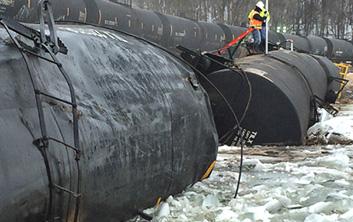 derailment, environmental response, train derailment, train derailment cleanup, environmental cleanup