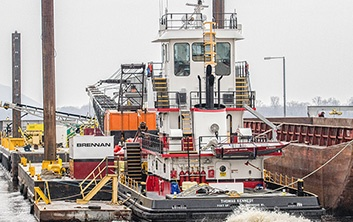marine support, towboat support, railroad marine services, railroad construction, marine contractor