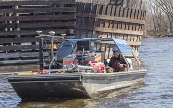 multibeam survey, mississippi river railroad bridge, railroad bridge survey, hydrographic survey