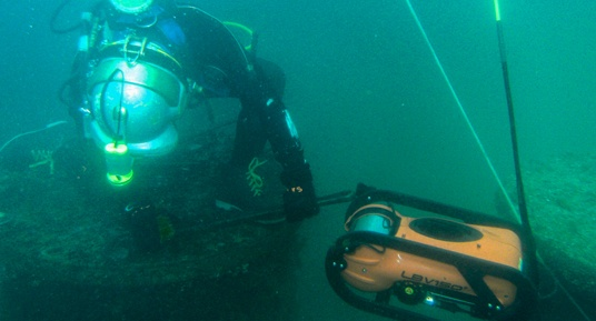 underwater inspections, railroad bridges, rov inspections, rov inspections of railroad bridges