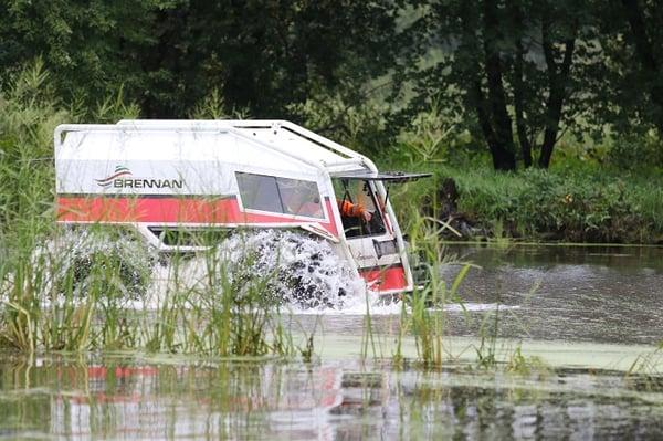 Sherp ATV in marsh and water