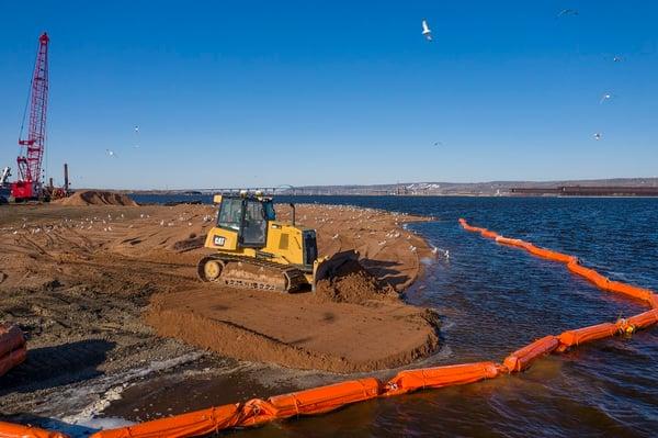 Shorline restoration at Interstate Island duluth