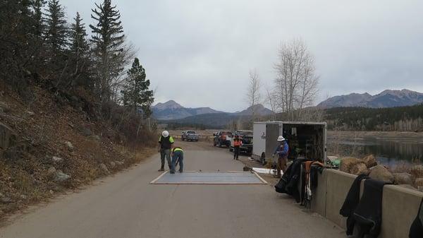 Rubber membrane for dam repair