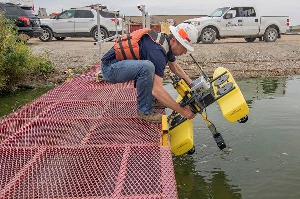 Brennan ROV equipment for dam inspections
