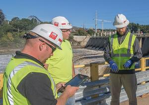 Mobile safety software on job site