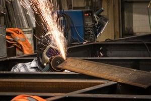 Brennan welding in shop