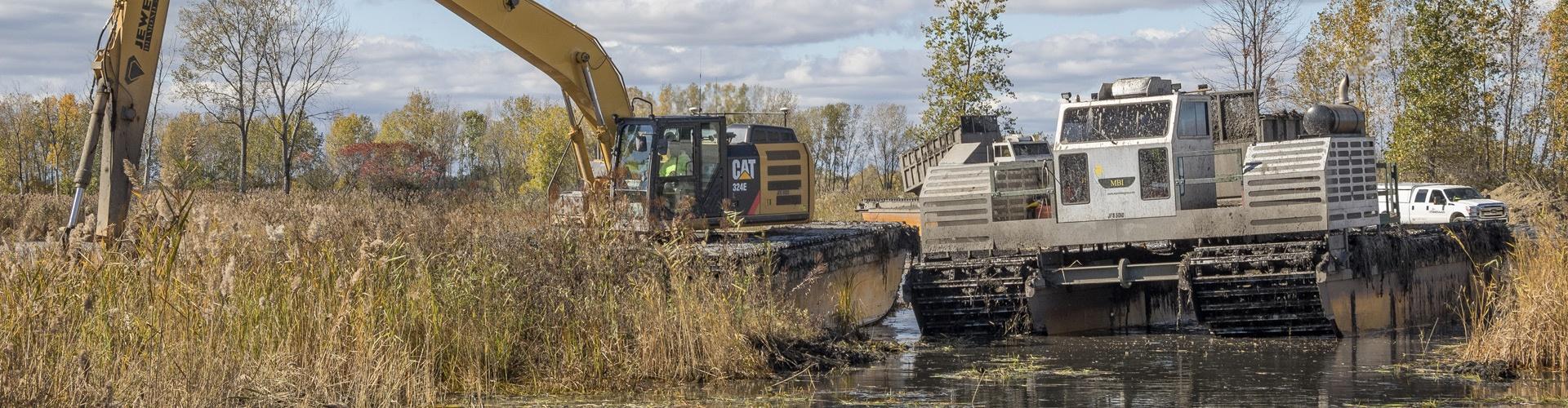 environmental services, environmental dredging, wetland restoration, habitat restoration