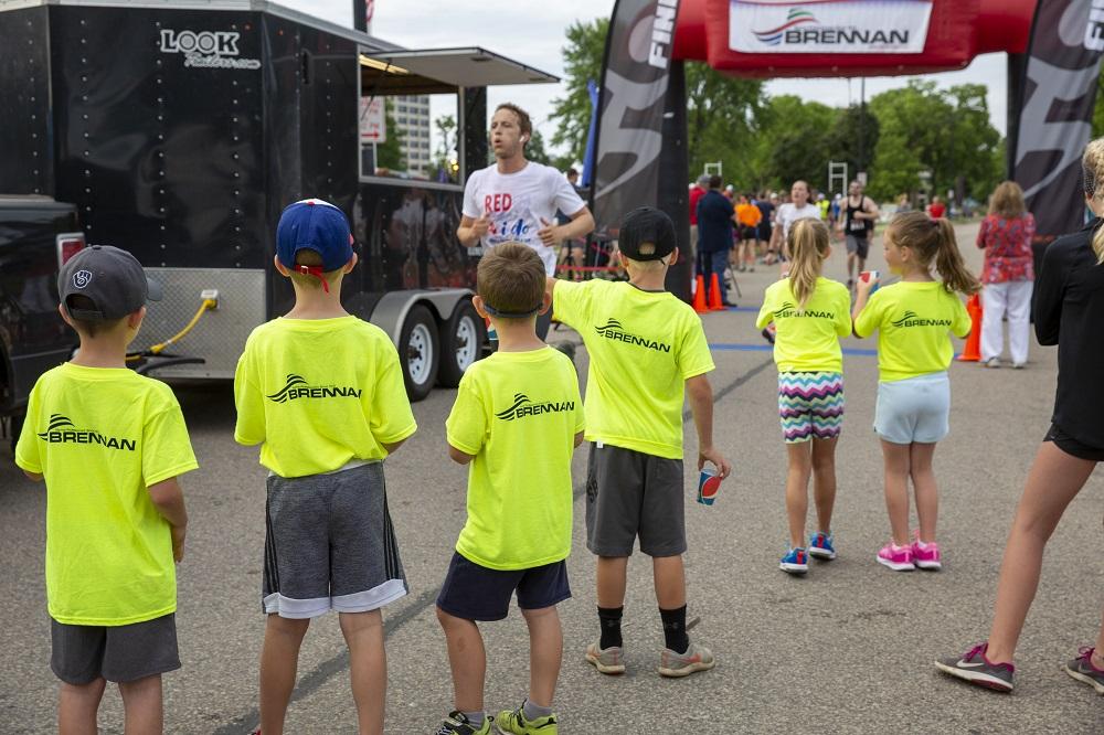Brennan kids helping out Riverfest