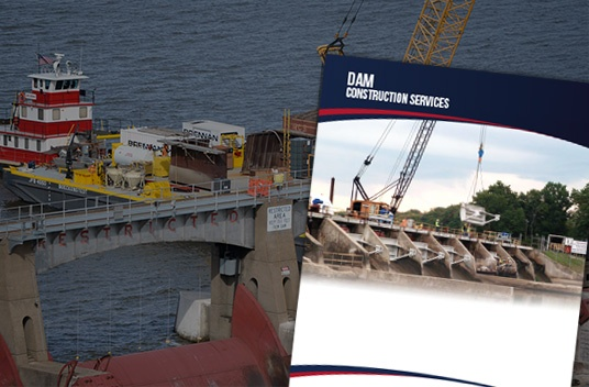 dam construction services, underwater construction, dam inspections