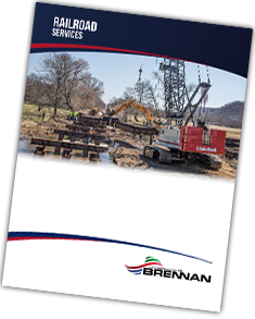 railroad services brochure, railroad construction services, brennan
