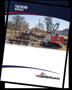 railroad services brochure, railroad construction services, brennan