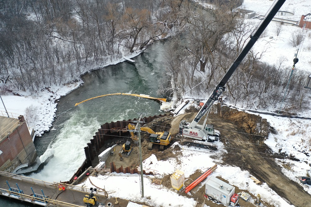 Brennan replacing a spillway wall at hydropower dam