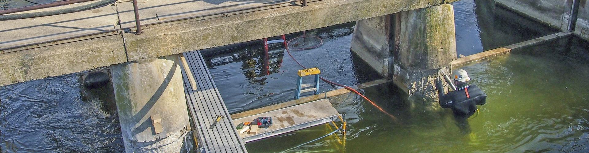 preplaced aggregate concrete, dam repairs, brennan, underwater concrete repairs, concrete repairs, dam pier repairs, surface repairs