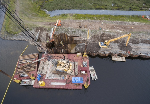 dam construction, cofferdam construction, cellular cofferdams, cellular cofferdam, dam repairs