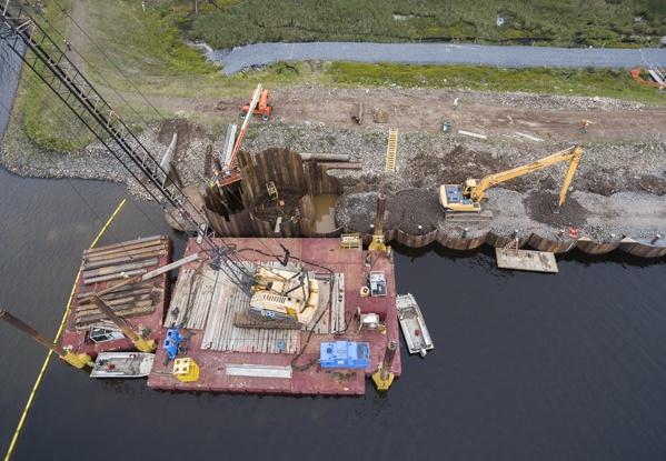 dam construction, cofferdam construction, cellular cofferdams, cellular cofferdam, dam repairs