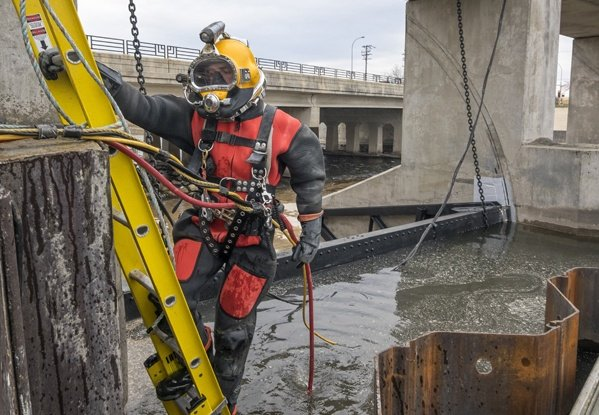 underwater inspections, dam inspections, underwater repairs, FERC part 12 inspections, dive inspections, commercial divers, dam divers