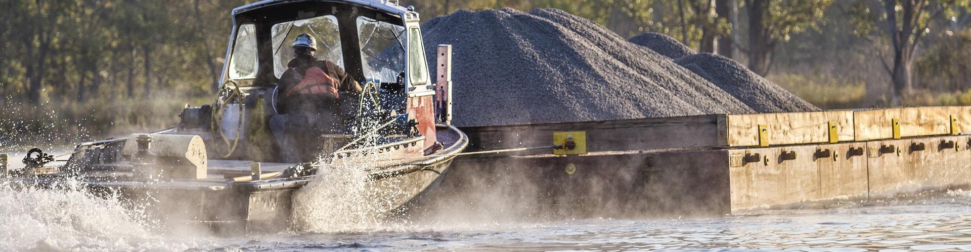 material transport, barge transport, environmental dredging, mechanical dredging, remedial dredging
