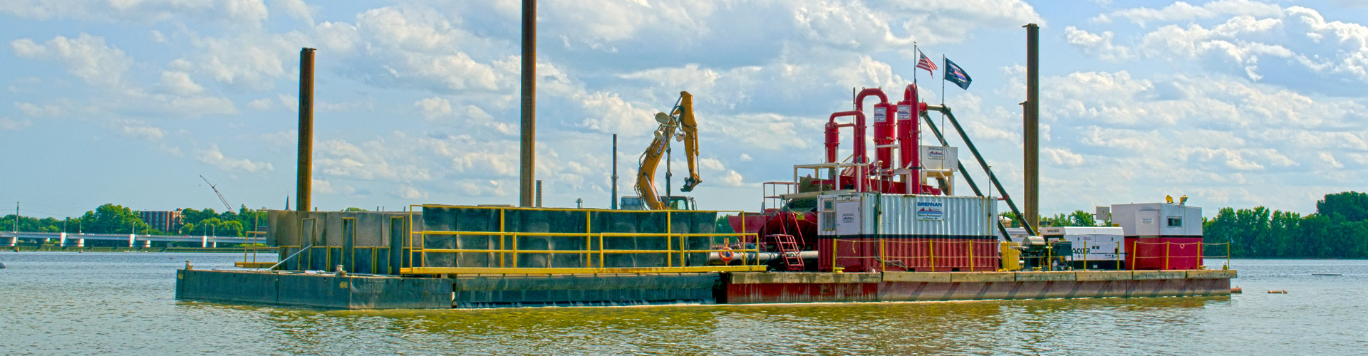 sand covers, quality sand covers, environmental remediation, environmental dredging, engineered cap installation, insitu caps, subaqueous sand covers, broadcast capping system, brennan bcs, river cleanup