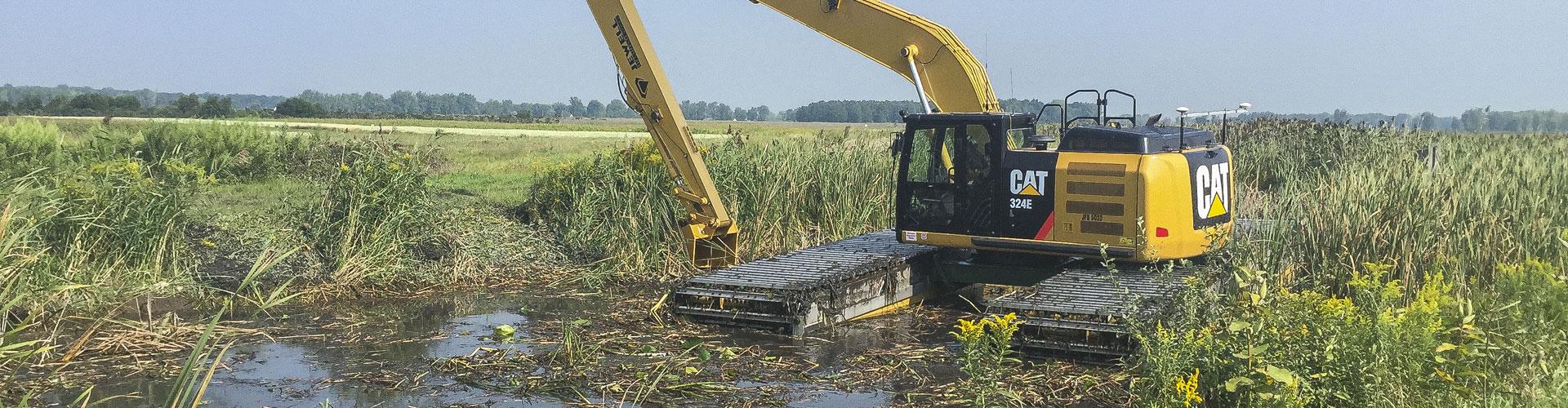 Wetland remediation, wetland dredging, impacted sediment removal, wetland restoration, marsh restoration