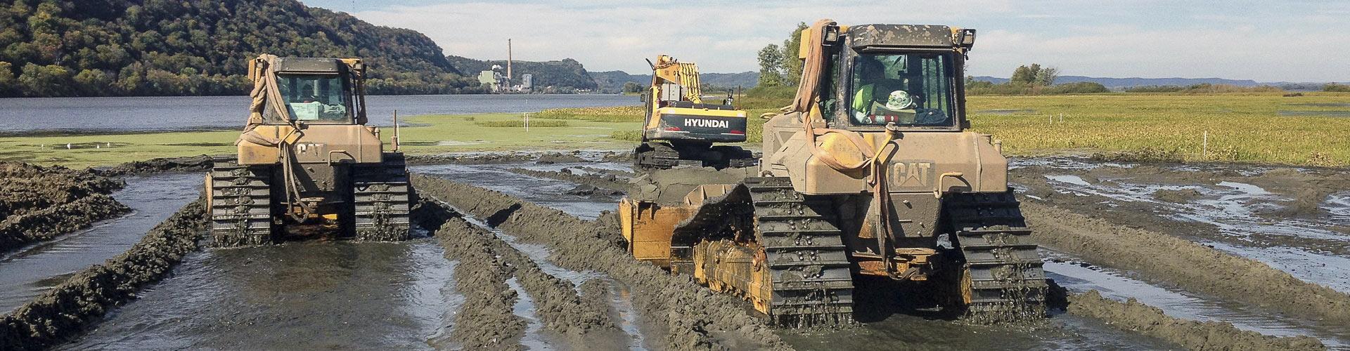 Environmental Dredging, Mechanical Dredging, Environmental Remediation, Environmental Cleanup, Weltand Remediation, Environmental Restoration, Wetland Restoration, Wetland Rehabilitation
