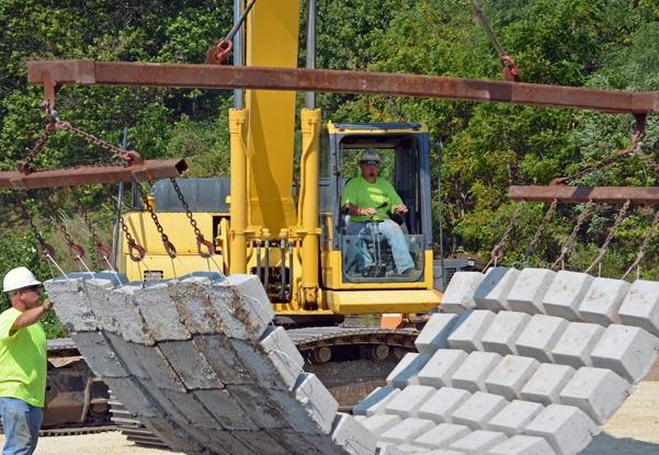 precast articulating block mats, articulating block mats, concrete articulating block mats, scour repair, underwater scour repair, erosion control, bridge scour repairs