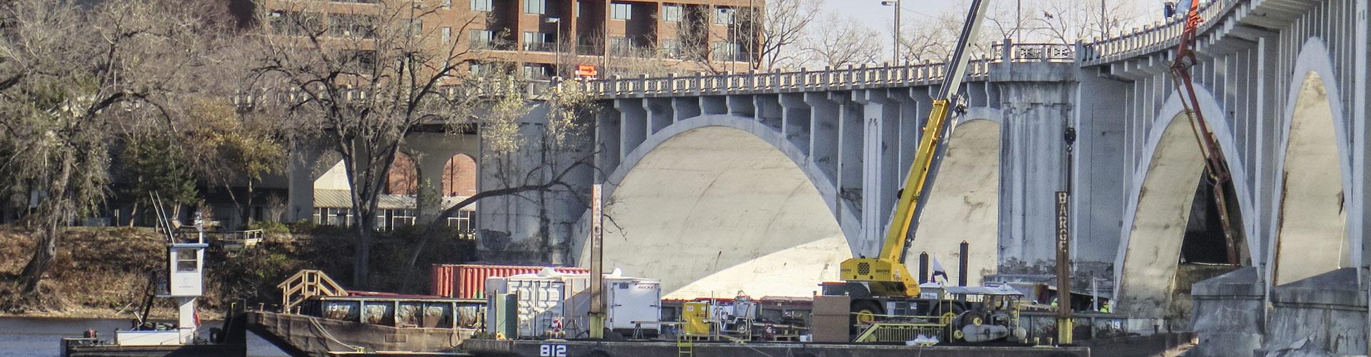 bridge construction, bridge repair, pier repairs, underwater pier repairs, marine construction, marine support