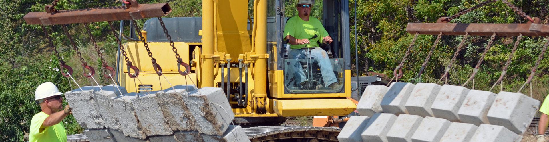 scour remediation, scour repairs, erosion control, precast articulating block mats